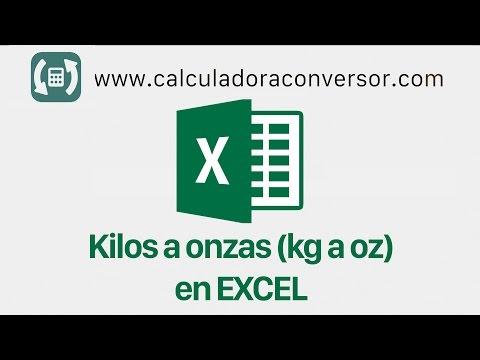 Convertir KILOS A ONZAS en Excel | (kg a oz)