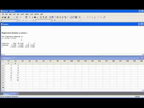 Linear Regression Example Minitab