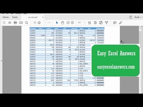 How to convert a PDF to an Excel file