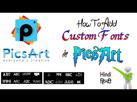 How TO Add Custom Fonts in Picsart - new way [Hindi / Urdu]