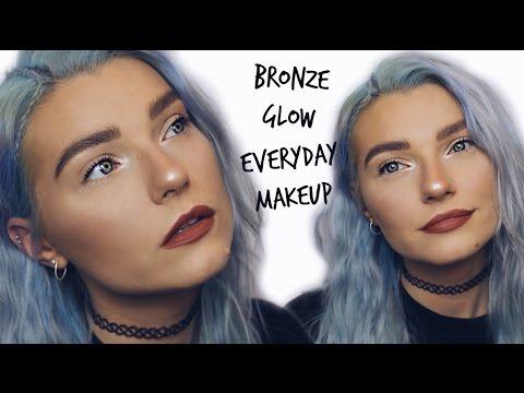 Bronze Glowy Everyday Makeup Tutorial + Soap Brows | LoveFings