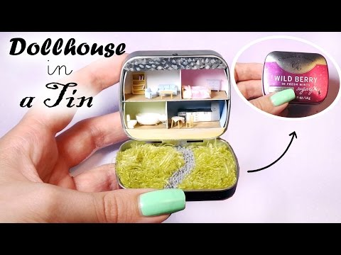Dollhouse In A Tin Tutorial // Miniature Dollhouse