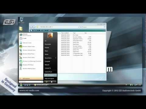 ESI MAYA44 USB - driver installation under Windows