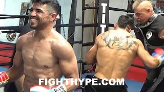 VICTOR ORTIZ SERIOUSLY SHREDDED AND LOOKING EXPLOSIVE ON MITTS; FOCUSED ON COMEBACK AND TITLE RUN