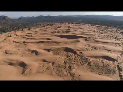 Coral Pink Sand Dunes by Drone in 4K