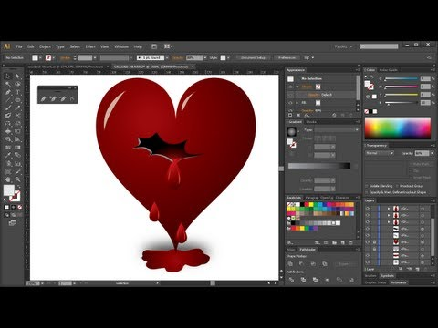 illustrator tutorial: create a cracked bleeding heart