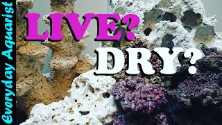 LIVE Rock or DRY Rock WHAT'S BEST? Easy Beginners Guide for Reef Aquarium