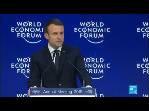REPLAY - Watch French president Emmanuel Macron's speech at Davos 2018