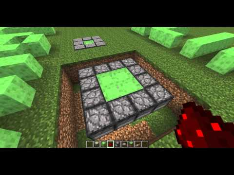 Minecraft Tutorial : Slime Block Launchers (1x1 2x2 3x3)
