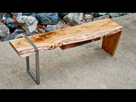 Modern Live Edge Waterfall Coffee Table Part 1 | How To Build - Woodworking