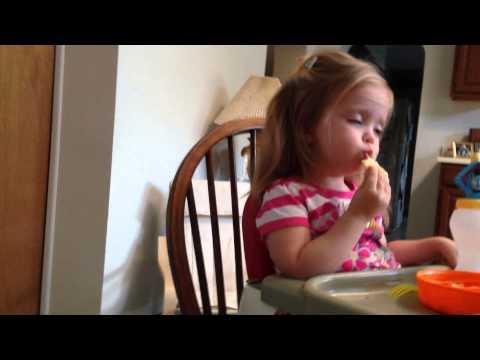 Baby Falls Asleep Eating a Cracker