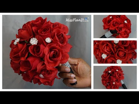 DIY Rose Bridal Bouquet | Weddings on a Budget |  DIY Wedding Tutorial