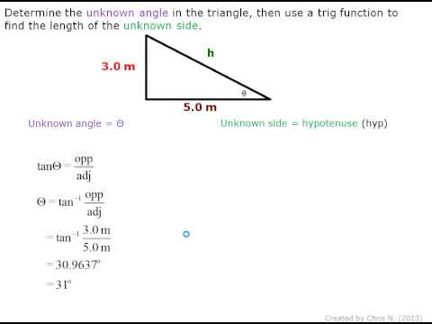 Using sides to find angles in a right triangle