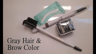 Gray hair and brow color
