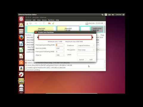 How to use gparted to manage partitions in Ubuntu 14.04