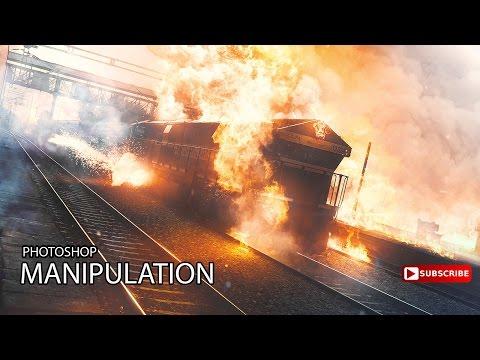 MAKING OF/THE BURNING TRAIN PHOTOSHOP MANIPULATION