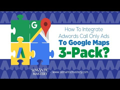 How To Integrate Adwords Call Only Ads To Google Maps 3-Pack?