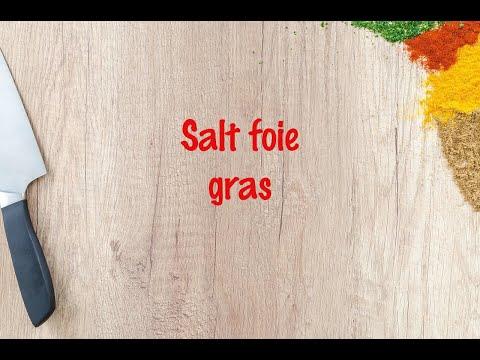How to cook - Salt foie gras