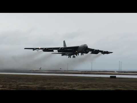 B-52 take off from Keflavik Airport Iceland
