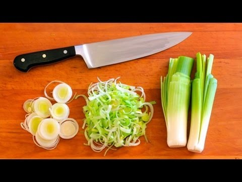 How-To Clean and Cut Leeks