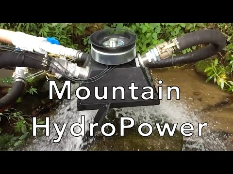 Micro Hydro Power with Turgo generator Part 1