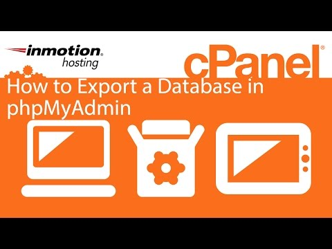 How to Export a Database in phpMyAdmin
