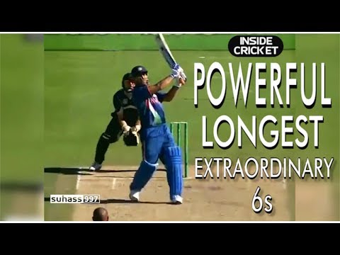 MS Dhoni the best biggest powerful sixes!