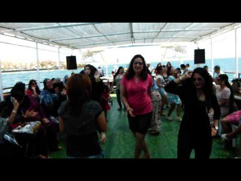 A Arabic lady is dancing in Nepali Song (Akko Port) Israel Milap Tour 13 June 2015