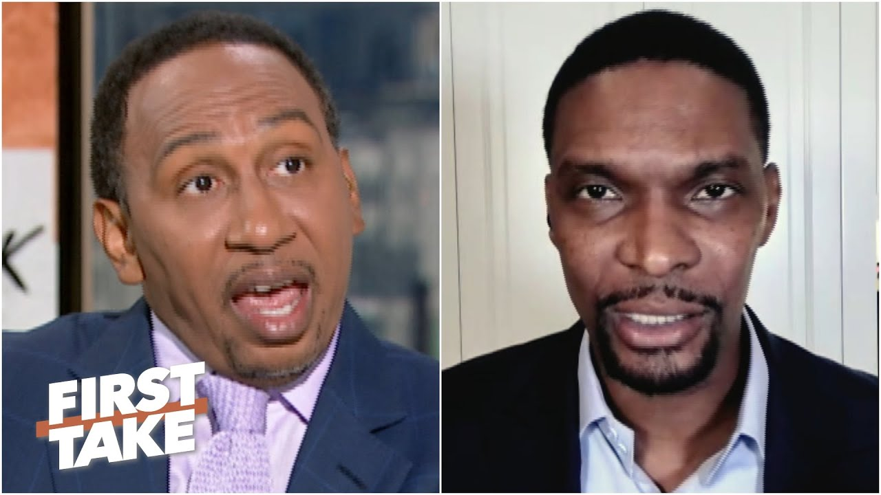 Stephen A. tells Chris Bosh: 'LeBron will never exceed MJ in my eyes' | First Take