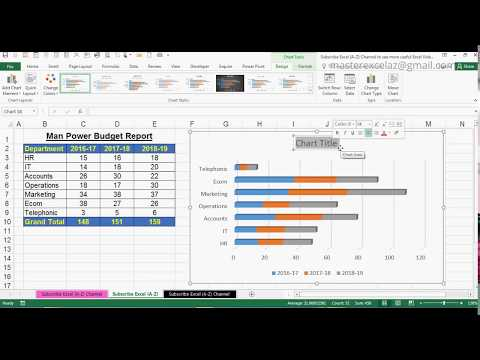 How to Create 3D Stacked Bar Chart in MS Office Excel 2016
