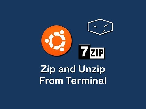 zip and unzip files from terminal using 7 zip in ubuntu