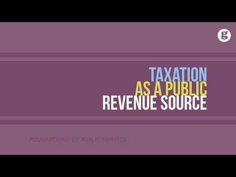 Taxation as a Public Revenue Source