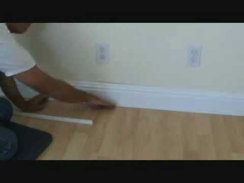 How to install a hardwood floor: without removing the existing baseboard