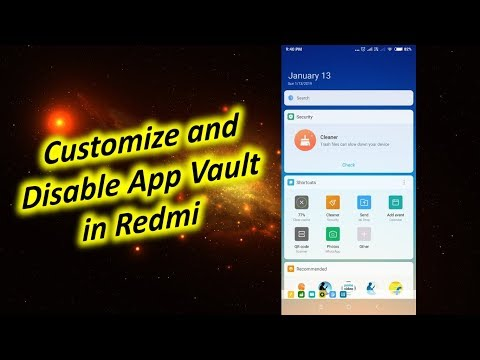 How to Customize and Disable App Vault in Redmi Note 5