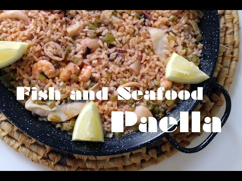 EASY FISH AND SEAFOOD PAELLA RECIPE BY SPANISH COOKING