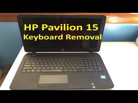 HP Pavilion 15 - Remove/Replace Keyboard