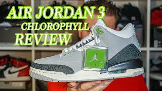 save off 81084 8d688 EARLY REVIEW ON THE NEW AIR JORDAN 3 IN ITS NEWEST COLOR WAY CHLOROPHYLL  DETAILED LOOK!
