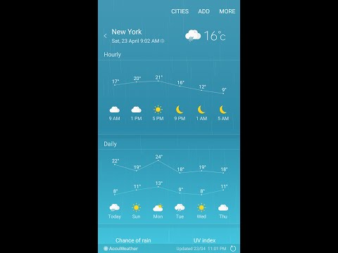How To Use Weather Widget To Check Multiple Cities Weather On Samsung Galaxy S7/Edge/S6/Note5/4