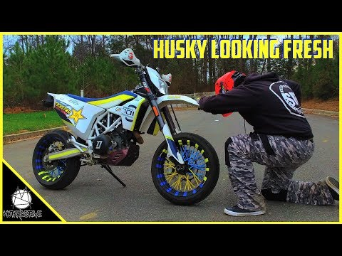 Husqvarna 701 Supermoto Custom Wheels | How To Make Your Own | DIY