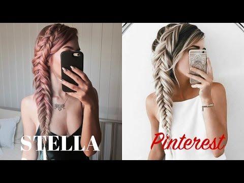 STELLA Vs Pinterest | Dutch Messy Fishtail Braid | Stella