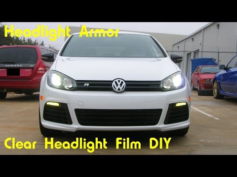 Clear Headlight Protection Tint Film Kit DIY - Volkswagen Golf R - Headlight Armor