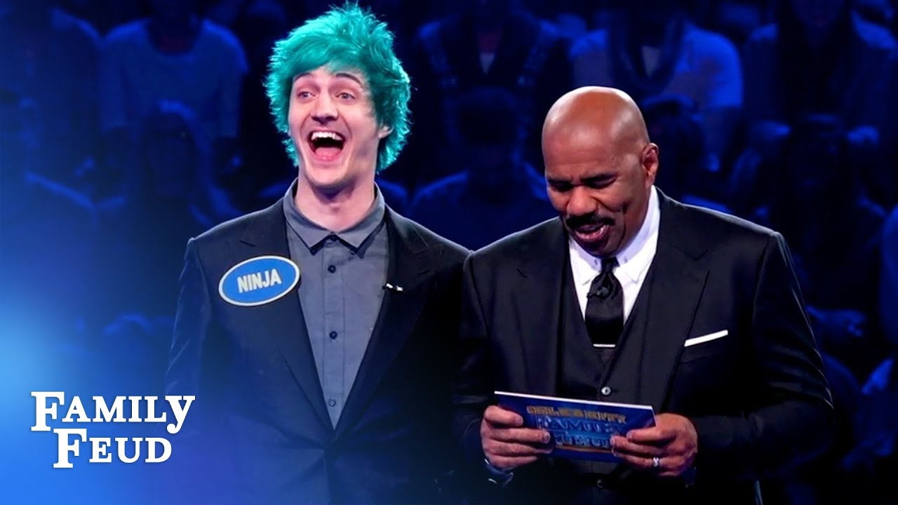 Ninja and brother Chris CRUSH Fast Money!   Celebrity Family Feud