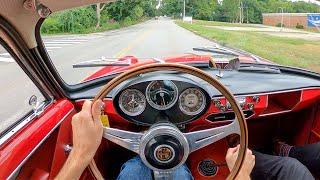 1956 Alfa Romeo Giulietta Sprint Veloce - POV Test Drive by Tedward (Binaural Audio)