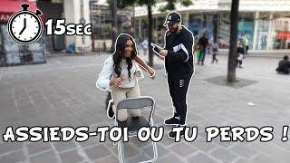 SIT DOWN CHALLENGE / ASSIEDS-TOI OU TU PERDS - 5€ SI TU REUSSIS - Micro Trottoir