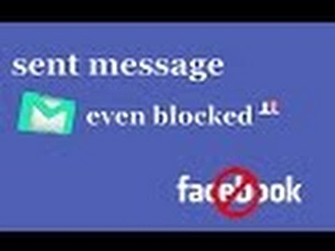 how to send message even you are  blocked on facebook / how to send message to people who block you