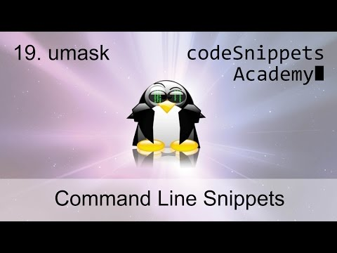 Command Line Tutorial 19. Setting Default Permissions: umask