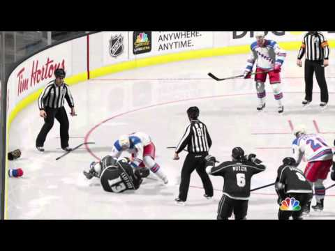 NHL 15 two fights in one game