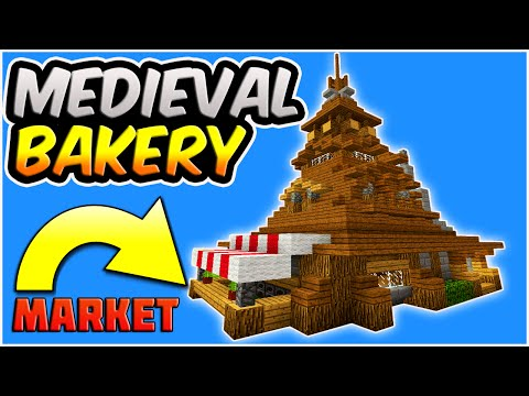 MINECRAFT: How To Build A Medieval House Tutorial | Rustic House Tutorial | Bakery and Market Place!