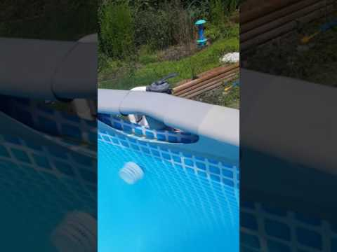 Through wall skimmer install on intex above ground pool (1 of 3 video's)
