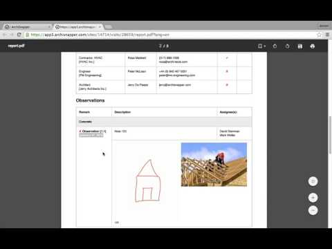 ArchiSnapper - how to create a field report or punch list